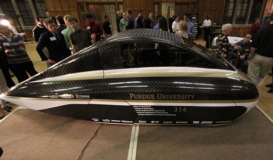 3 587 1 miles traveled on a gallon of gasoline at this for Mitsuba motor solar car