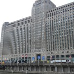 Chicago Merchandise Mart at Neocon 2011, photo from Wacker Drive from across the river