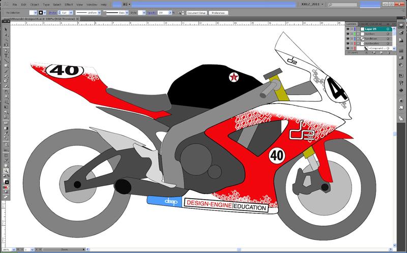GSXR DesignEngines New Logo Vinyl Graphics Design Engine - Decal graphics software