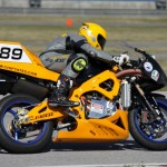 Chip Yates has made a name for himself by setting a record and over the  by going over 200 miles per hour on his electric Superbike