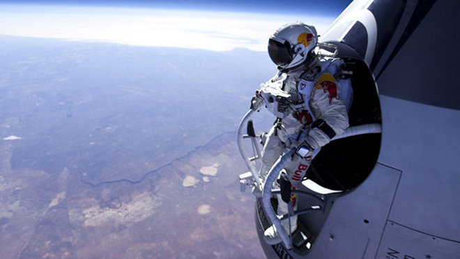 jumping astronaut in space - photo #2