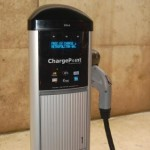 Chargepoint station in Chicago Walgreen's lot