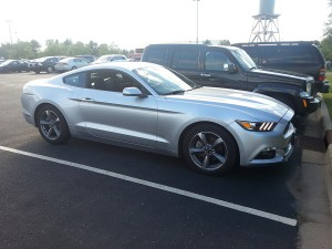 Brian picked up this Ford Mustang from the Minneapolis Airport rental car company