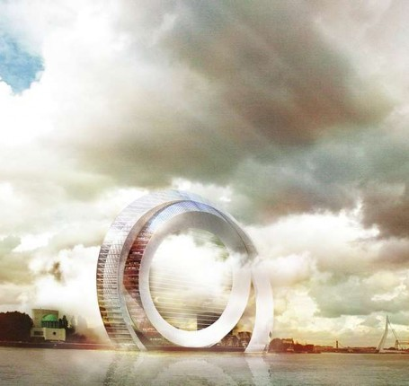 Artist's rendering of what the Windwheel would look like