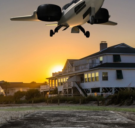 The TriFan 600 has the ability to land in places planes can't reach.  XTI Aircraft
