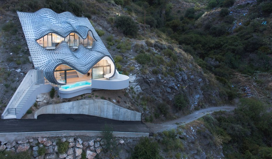Architects Design Dragon Scale Like Cave House In Spain