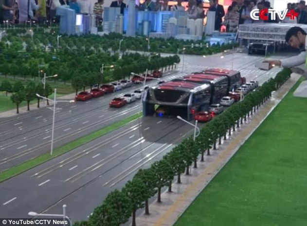 A scale model of the bus Image via CCTV