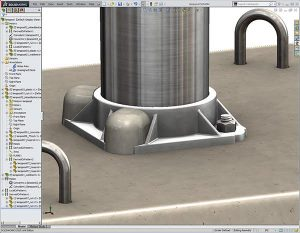 Solidworks Lamp Post