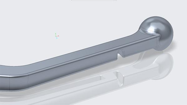Creo Diecast Motorcycle brake lever