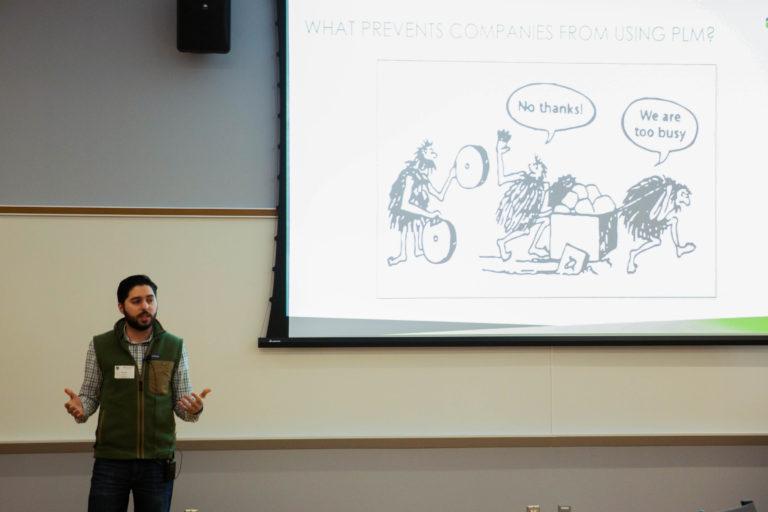 Hamed Yazdi presenting at Peoria 2020