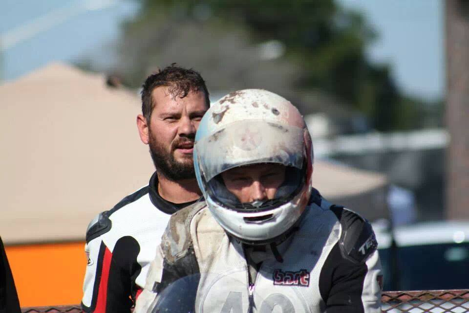 Bart Brecjha coming in after crashing in T4 at Roebling 2015